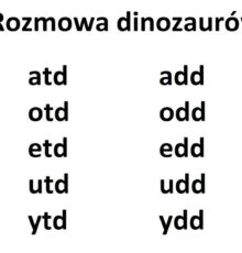 dinozaur – rozmowa [r]