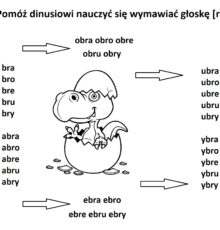 dinuś mały [br] – sylaby